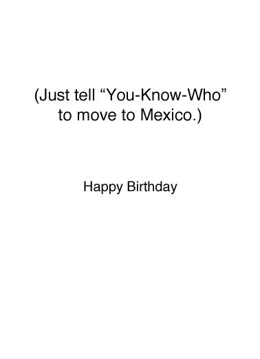Great Again Birthday Card Inside