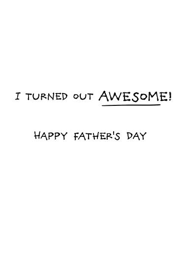 Great Job Dad Boy FD Father's Day Card Inside