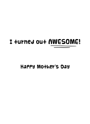 Great Job MD Mother's Day Ecard Inside
