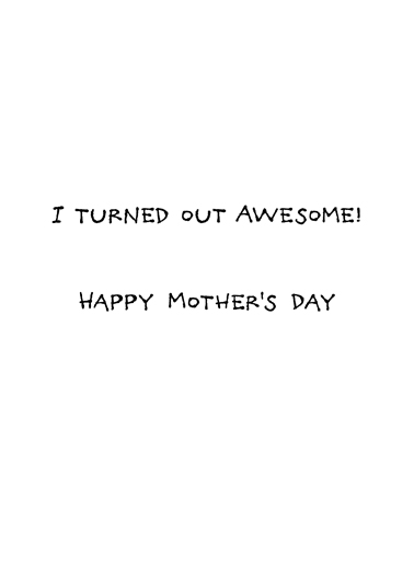 Great Job Mom Mother's Day Ecard Inside