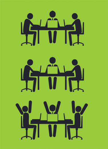 Great Meeting Business Greeting Ecard Cover