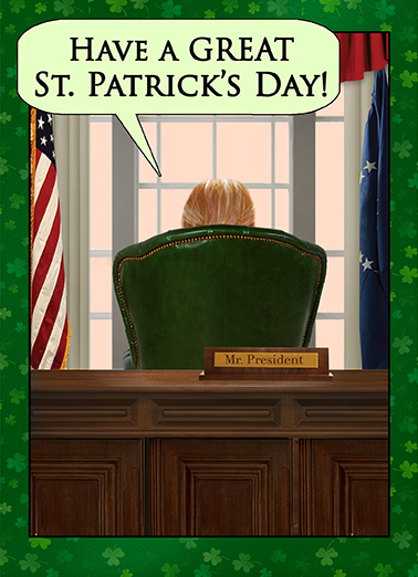 Great St. Pat's Day Funny Political Ecard Cover
