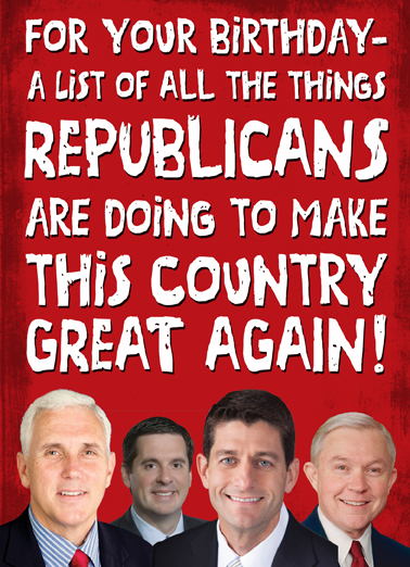Great Things GOP Birthday Card Cover