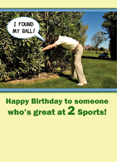 Great at 2 Sports Birthday Card Cover