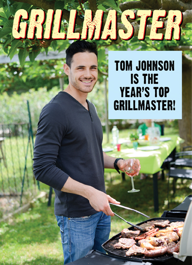 Grillmaster Father's Day Card Cover