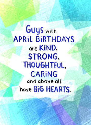 Guys April Birthdays  Card Cover