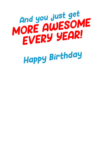 Guys Born in August Birthday Card Inside