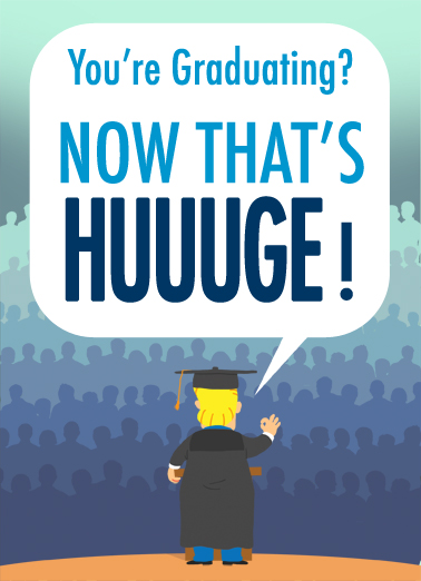 HUUUGE Graduation Card Cover