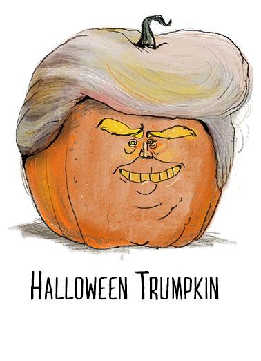 Halloween Trumpkin Halloween Ecard Cover