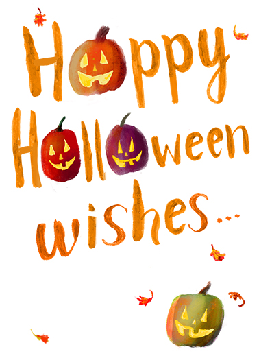 Halloween Wishes Halloween Card Cover