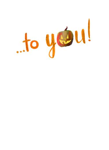 Halloween Wishes Halloween Card Inside
