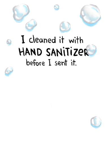 Hand Sanitizer  Card Inside