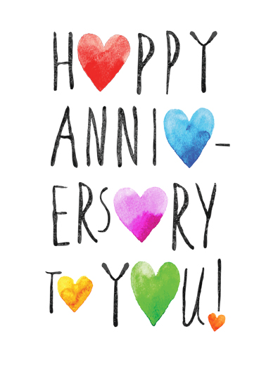 Happy Anniversary Hearts Anniversary Card Cover