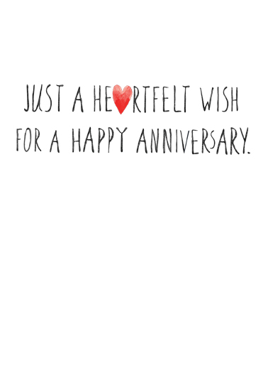 Happy Anniversary Hearts Anniversary Card Inside