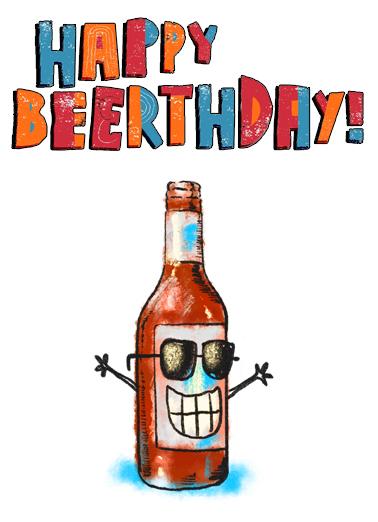 Happy Beerthday Birthday Ecard Cover
