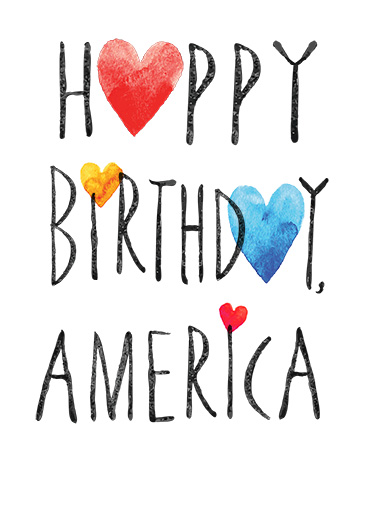 Happy Birthday America Summer Fun Card Cover