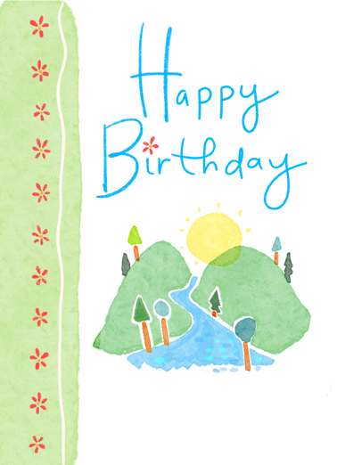 Happy Birthday Hill One from the Heart Ecard Cover