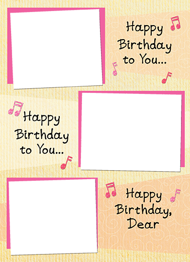 Happy Birthday Song Birthday Card Cover