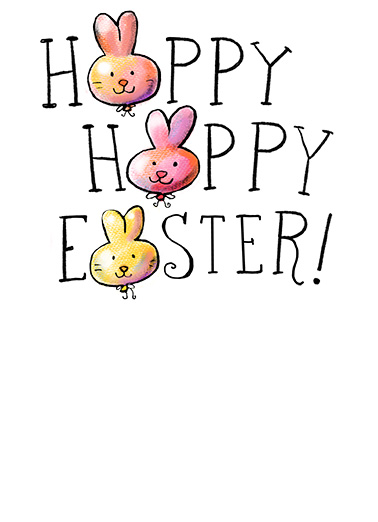 Happy Happy Easter  Ecard Inside