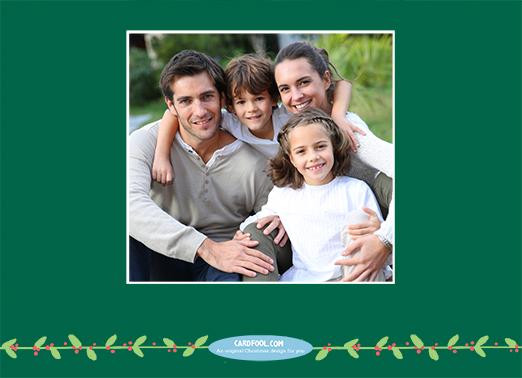 Happy Holidays Upload Christmas Card Inside