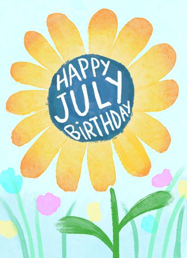 Happy July Birthday July Birthday Card Cover