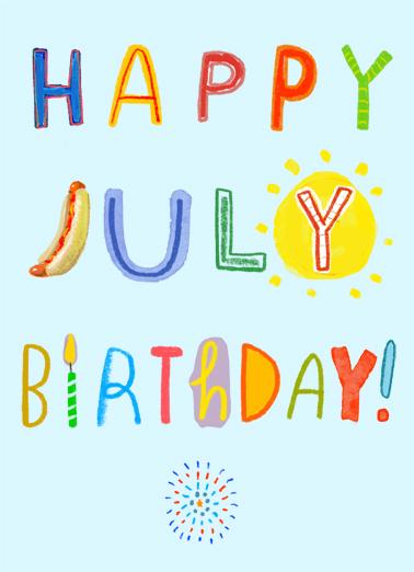 Happy July July Birthday Ecard Cover