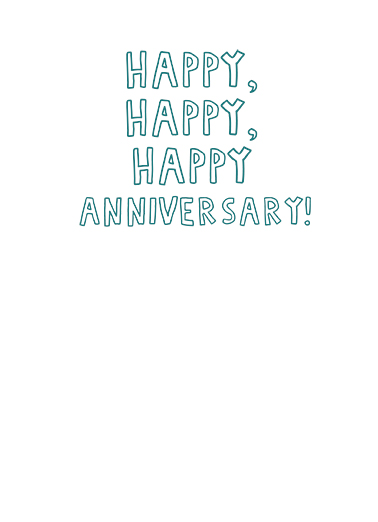 Happy Together Anniversary Ecard Inside