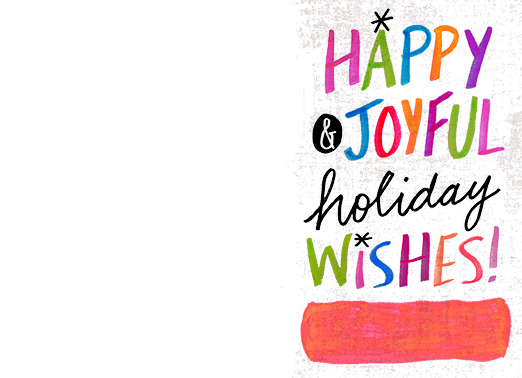 Happy and Joyful Christmas Card Cover