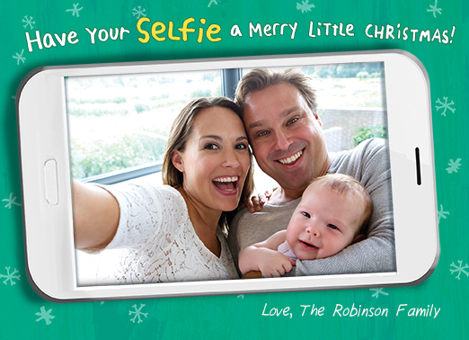 Have Your Selfie Christmas Card Cover