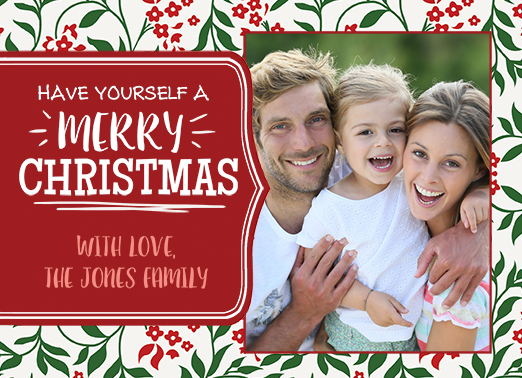 Fun Add Your Photo Christmas Cards and Flats
