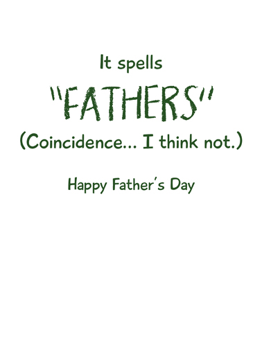 He Farts Father's Day Ecard Inside