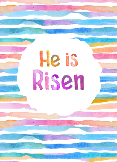He Is Risen Easter Card Cover