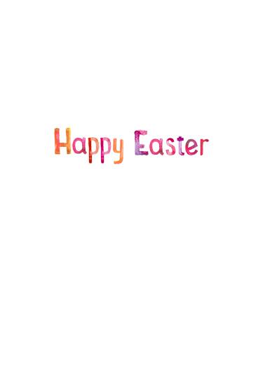 He Is Risen Easter Card Inside