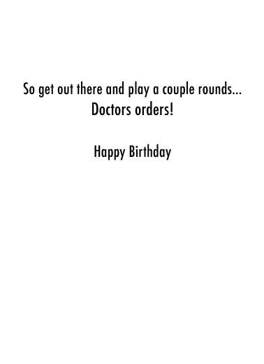 Healthiest Activities Birthday Card Inside