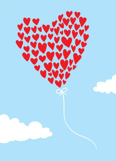 Heart Balloon Thank You Thank You Card Cover