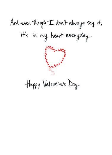 Heart Balloon Valentine's Day Card Inside