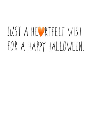 Heartfelt Halloween Halloween Card Inside