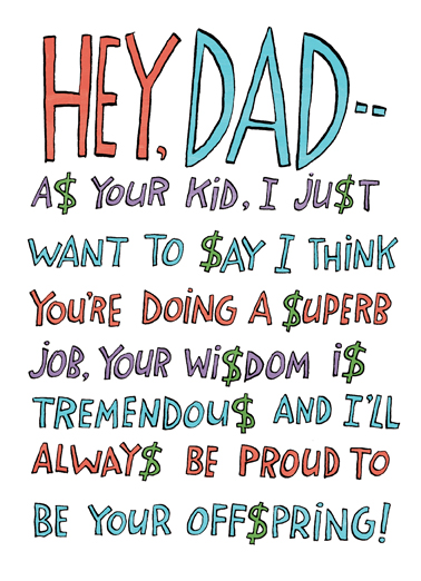 Hey Dad Father's Day Card Cover