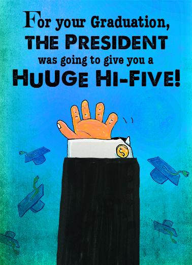 Hi 5 Grad Graduation Card Cover