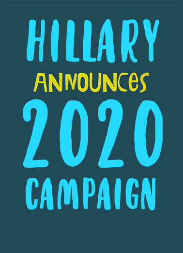 Hillary Announces April Fools' Day Ecard Cover