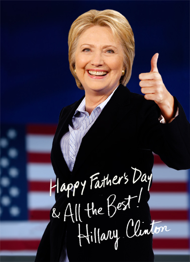 Hillary Autograph Dad Father's Day Ecard Cover