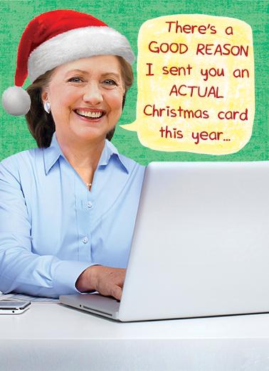 Hillary Christmas Card Christmas Card Cover