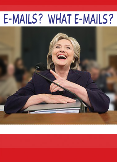 Hillary Emails  Card Cover