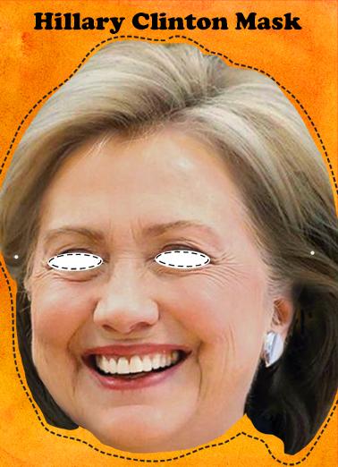 Hillary Mask Halloween Ecard Cover