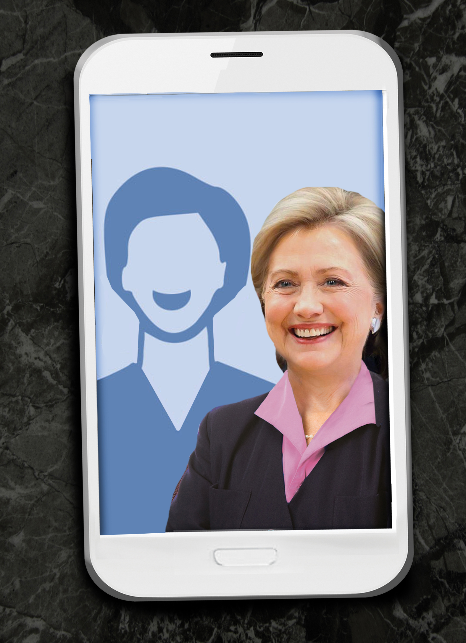 Hillary Selfie any  Ecard Cover