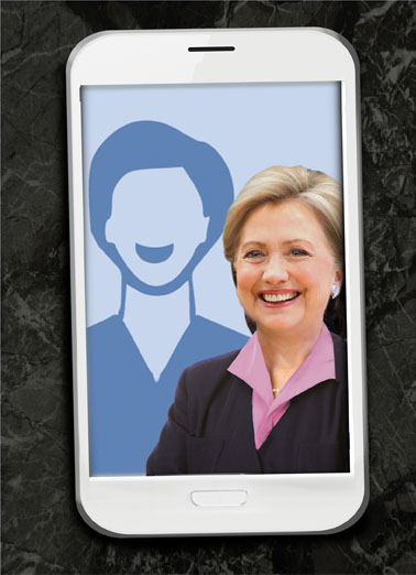 Hillary Selfie Birthday Card Cover