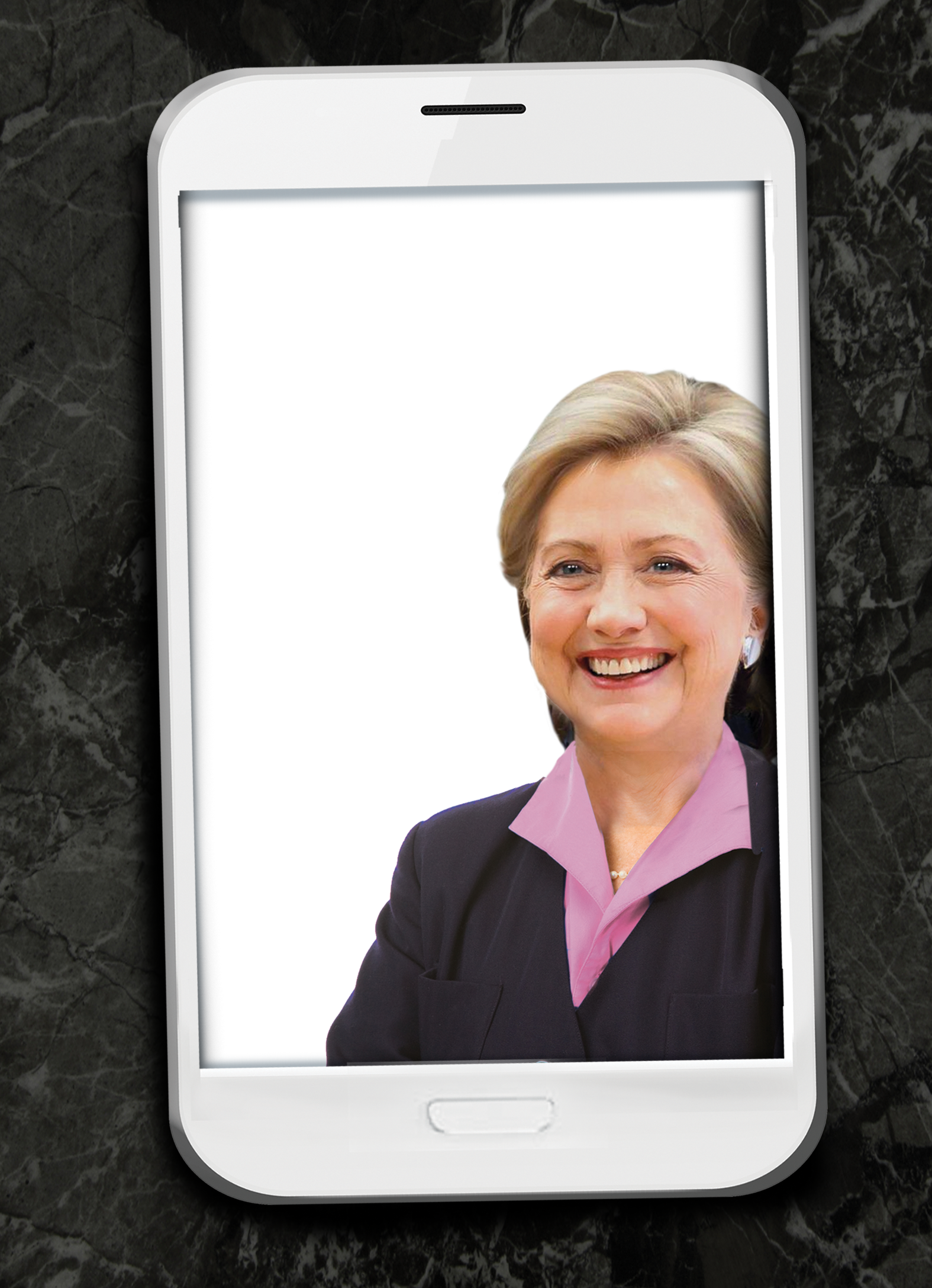 Hillary Selfie  Card Cover
