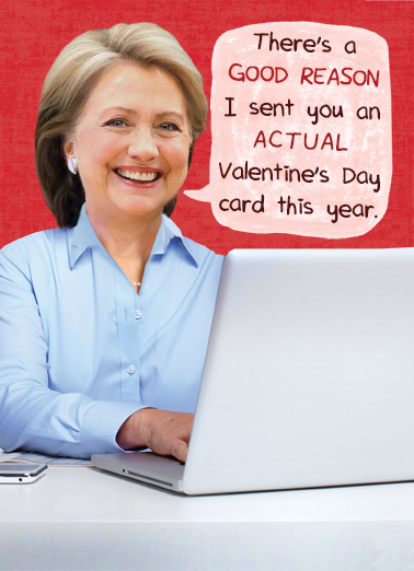 Hillary Val Emails Valentine's Day Card Cover