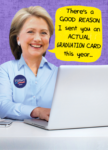 Hillary on Computer Grad Graduation Ecard Cover
