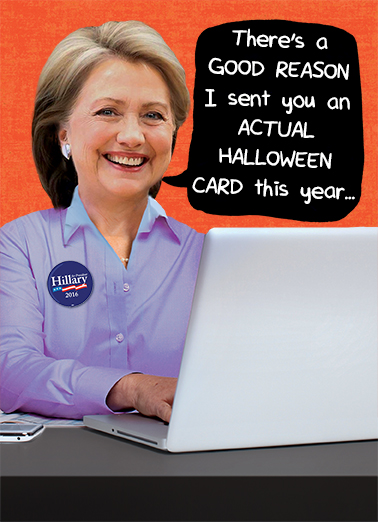 Hillary's Halloween Card President Donald Trump Card Cover
